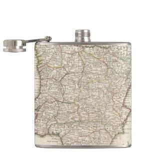 Vintage Map of Spain (1775) Flask