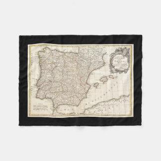 Vintage Map of Spain (1775) Fleece Blanket