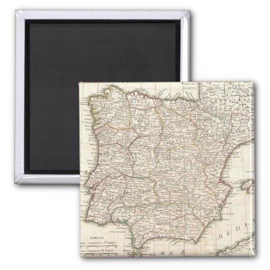 Vintage Map of Spain (1775) Magnet