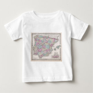 Vintage Map of Spain (1855) Baby T-Shirt