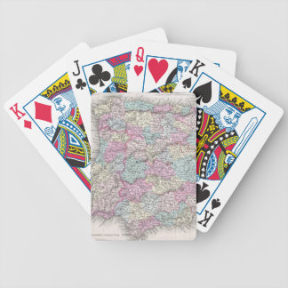 Vintage Map of Spain (1855) Bicycle Playing Cards