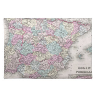 Vintage Map of Spain (1855) Placemat