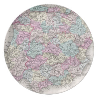 Vintage Map of Spain (1855) Plate
