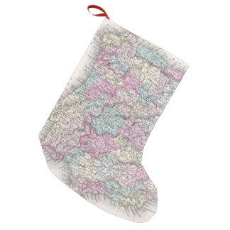 Vintage Map of Spain (1855) Small Christmas Stocking