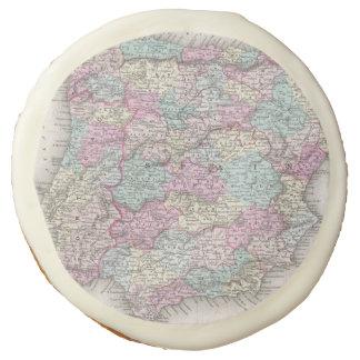 Vintage Map of Spain (1855) Sugar Cookie
