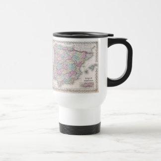 Vintage Map of Spain (1855) Travel Mug