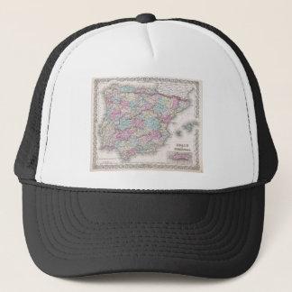 Vintage Map of Spain (1855) Trucker Hat