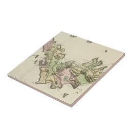 Vintage Map of St. Barts (1801) Ceramic Tile