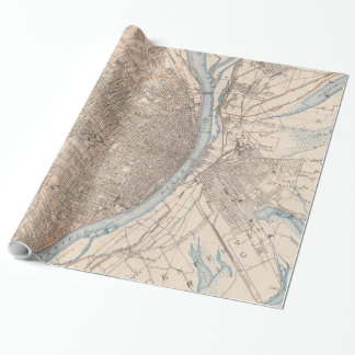 Vintage Map of St. Louis Missouri (1904) Wrapping Paper