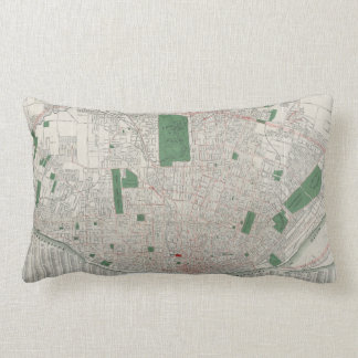 Vintage Map of St. Louis Missouri (1921) Lumbar Pillow
