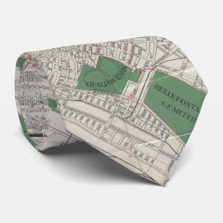 Vintage Map of St. Louis Missouri (1921) Neck Tie