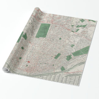 Vintage Map of St. Louis Missouri (1921) Wrapping Paper