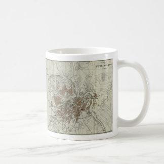 Vintage Map of St Petersburg (1893) Coffee Mug