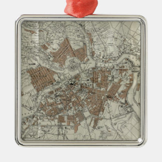 Vintage Map of St Petersburg (1893) Metal Ornament