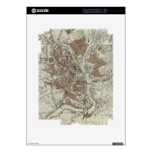 Vintage Map of St Petersburg (1893) Decal For The iPad 2