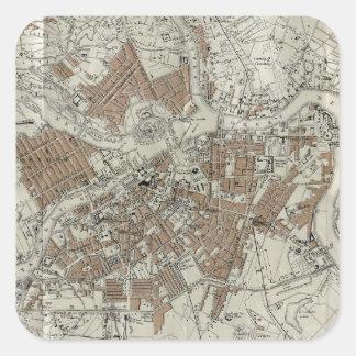 Vintage Map of St Petersburg (1893) Square Sticker