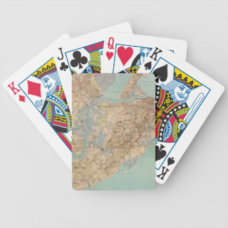 Vintage Map of Staten Island (1891) Bicycle Playing Cards
