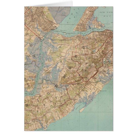 Vintage Map of Staten Island (1891) Card