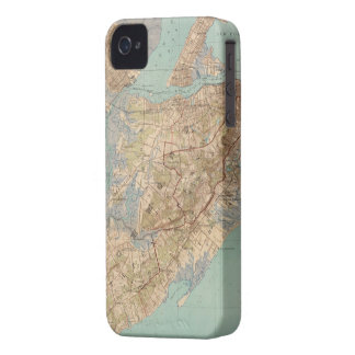 Vintage Map of Staten Island (1891) iPhone 4 Case