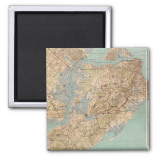 Vintage Map of Staten Island (1891) Magnet