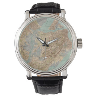 Vintage Map of Staten Island (1891) Watches
