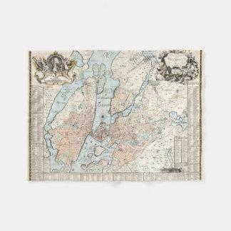 Vintage Map of Stockholm (1733) Fleece Blanket