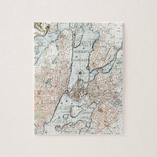 Vintage Map of Stockholm (1733) Jigsaw Puzzle