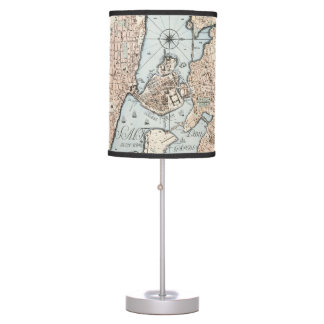 Vintage Map of Stockholm (1733) Table Lamp