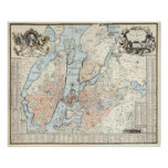 Vintage Map of Stockholm (1733) Poster