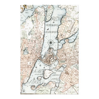 Vintage Map of Stockholm 1733 Stationery