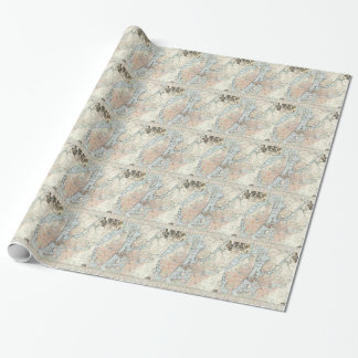Vintage Map of Stockholm (1733) Wrapping Paper