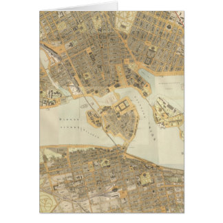 Vintage Map of Stockholm (1899) Greeting Cards