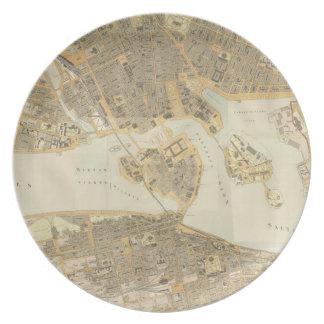 Vintage Map of Stockholm (1899) Melamine Plate