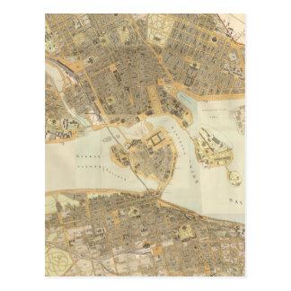Vintage Map of Stockholm (1899) Postcards