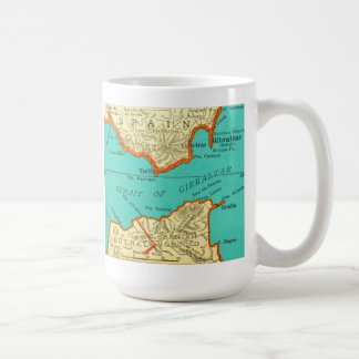 Vintage Map of STRAIT OF GIBRALTAR Mug