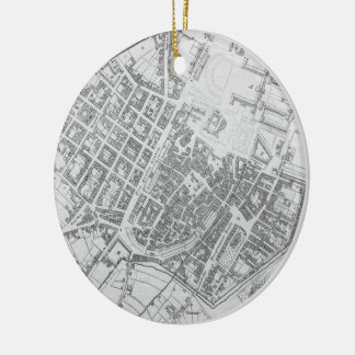 Vintage Map of Stuttgart Germany (1794) Double-Sided Ceramic Round Christmas Ornament