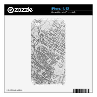 Vintage Map of Stuttgart Germany (1794) Skin For The iPhone 4S