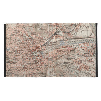Vintage Map of Stuttgart Germany (1909) iPad Folio Covers