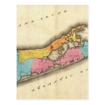 Vintage Map of Suffolk New York (1829) Post Cards