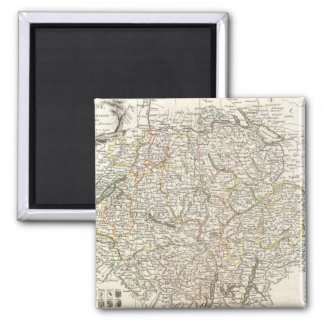 Vintage Map of Switzerland (1771) 2 Inch Square Magnet