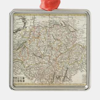 Vintage Map of Switzerland (1771) Metal Ornament