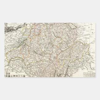 Vintage Map of Switzerland (1771) Rectangular Sticker
