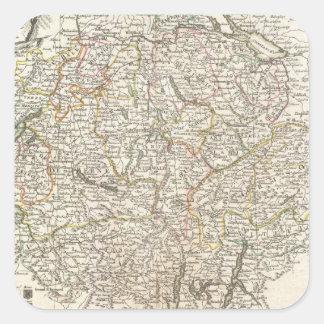 Vintage Map of Switzerland (1771) Square Sticker