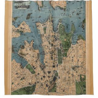 Vintage Map of Sydney Australia (1922) Shower Curtain