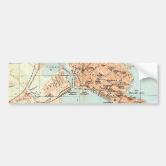 Vintage Map of Syracuse Italy (1905) Bumper Stickers
