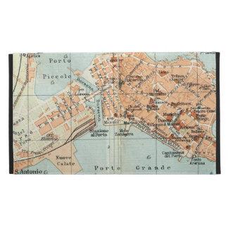 Vintage Map of Syracuse Italy (1905) iPad Case