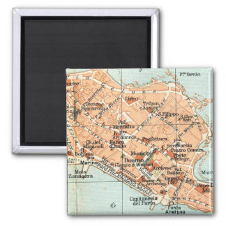 Vintage Map of Syracuse Italy (1905) Magnet