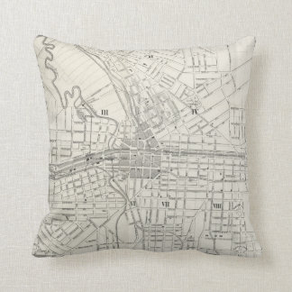Vintage Map of Syracuse New York (1873) Throw Pillow