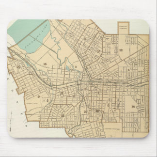 Vintage Map of Syracuse New York (1895) Mouse Pad