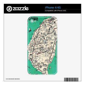 Vintage Map of Taiwan iPhone 4S Decal